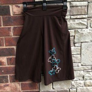 Other - Brown Dressy Wide Leg Capris/Butterflies Girl 6/6X